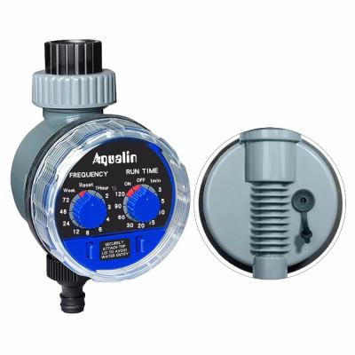 AQUALIN 21025A  Таймер полива с шаровым клапаном, механическим управлением и возможностью подключения датчика дождя