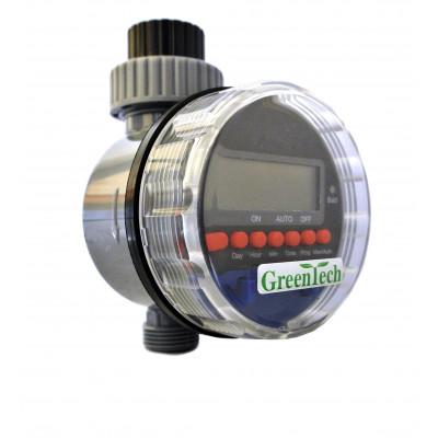 Таймер полива AQUALIN 21026 с шаровым клапаном