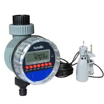 AQUALIN 21026A Таймер полива шаровой с цифровым управлением и подключением датчика дождя