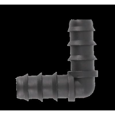 Уголок (колено) соединительный для многолетней и слепой трубки капельного полива САНТЕХПЛАСТ SL-019
